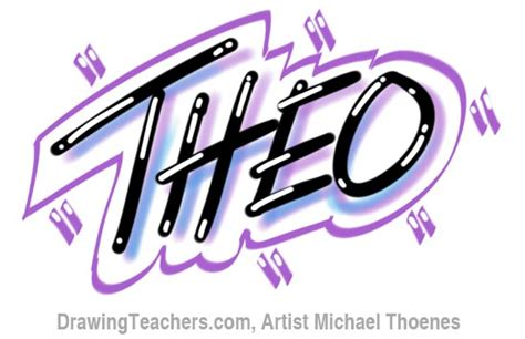 drawing graffiti letters theo