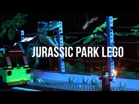 tutorial lego jurassic park father and daughter recreate jurassic park with 100k