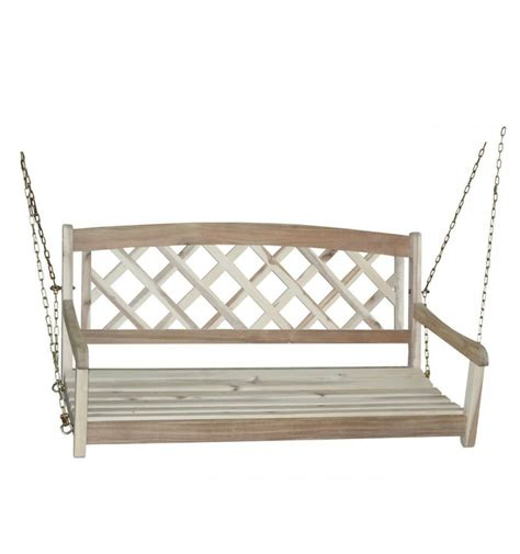 back porch swing 46 inch lattice back porch swing simply woods