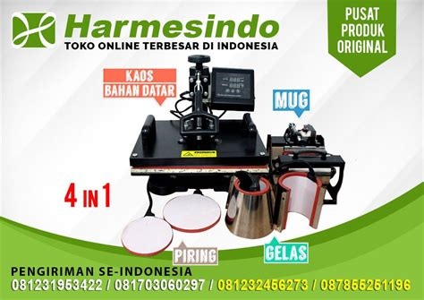 Mesin Press Kaos Topi Mug Piring Besar Jual Mesin Sablon Baju Digital 5 In 1 Mesin Press Kaos