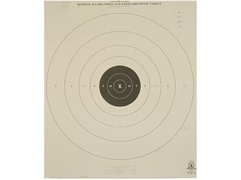 printable targets midway nra official pistol targets b 8 t 25 yard timed rapid