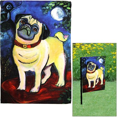 pug garden flags chagrowl pug garden flag the animal rescue site