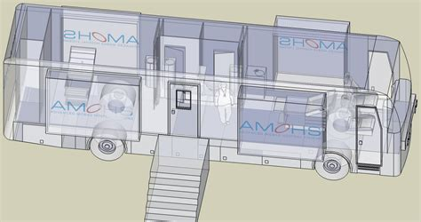 Emergency Floor Plan mobile health clinic vehicle mobile surgery facilities