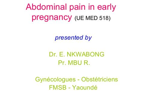 abdominal pain  early pregnancy