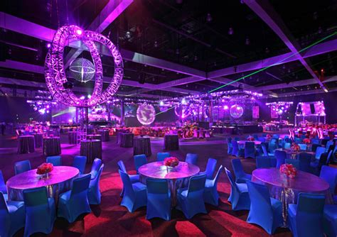 Space Theme Curtains by A Truss Surrounded A Giant Mirror Ball Disco Nostalgia