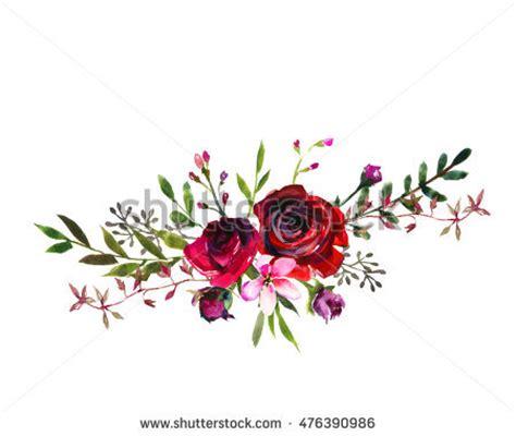 Watercolor Floral Bouquet Purple Burgundy Roses Stock Illustration 476390986   Shutterstock