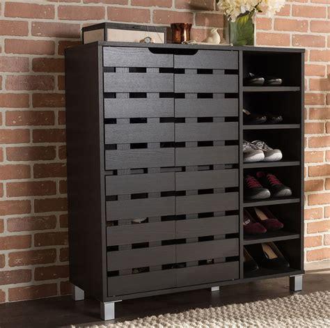 entryway shoe storage cabinet wood 18 pair shoe cabinet storage rack organizer entryway