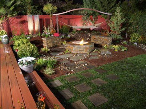 backyard off outdoor fireplaces and fire pits diy shed pergola