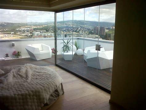 chiudere terrazza con vetro simple chiusura in vetro di un attico a tangeri