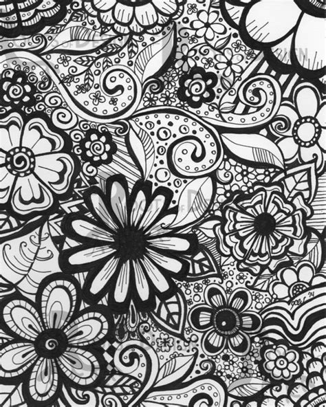 floral inspirations a detailed floral coloring book books instant coloring page flowers print zentangle