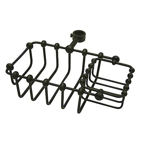 buy kingston brass adjustable bathtub caddy in oil rubbed buy kingston brass tub riser mount shower caddy in oil