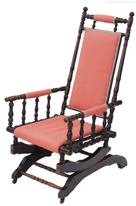 American Chair by 19c American Walnut Rocking Chair Antiques Atlas