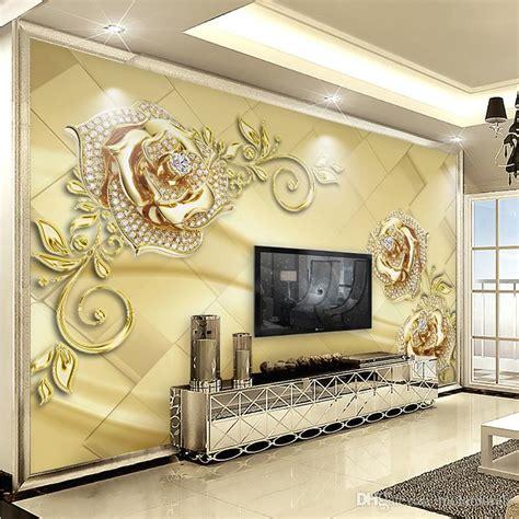 wall mural  european style marble diamond jewelry flower