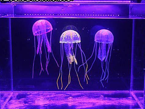 Jellyfish In Aquarium 5pcs glowing effect artificial jellyfish for fish