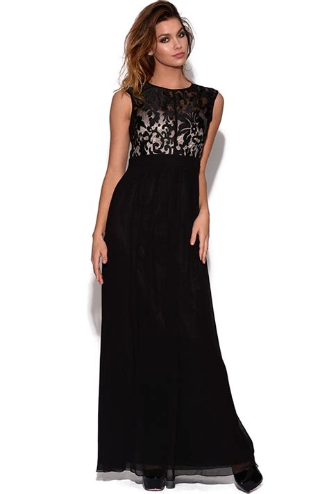 Maxi New Imah 2in1 Recomended vestry floral flock maxi dress in black