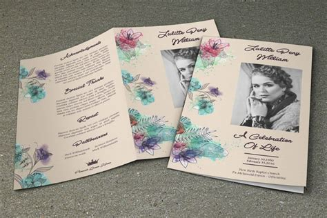 memorial leaflet layout 20 funeral brochure template word indesign and psd
