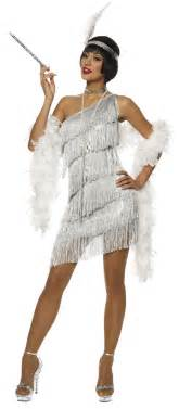 flapper costume halloween city dazzling silver flapper costume costume craze