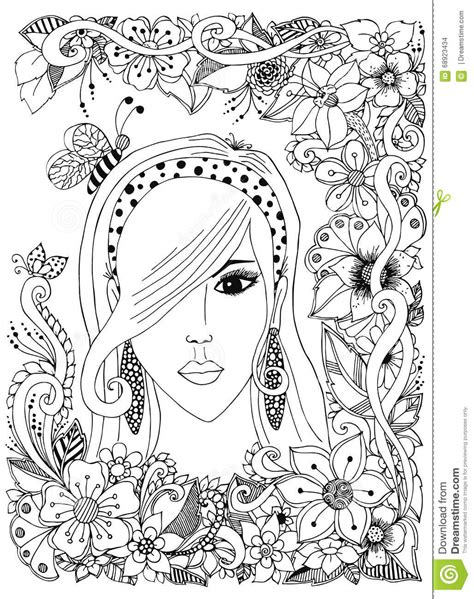 coloring pages for adult in zenart style antistress coloring page vector set of hair care ingredients organic hand drawn