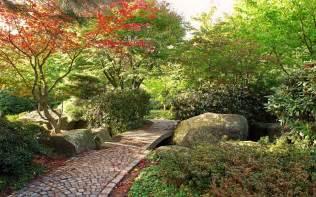 fotos de jardines con flores y piedras