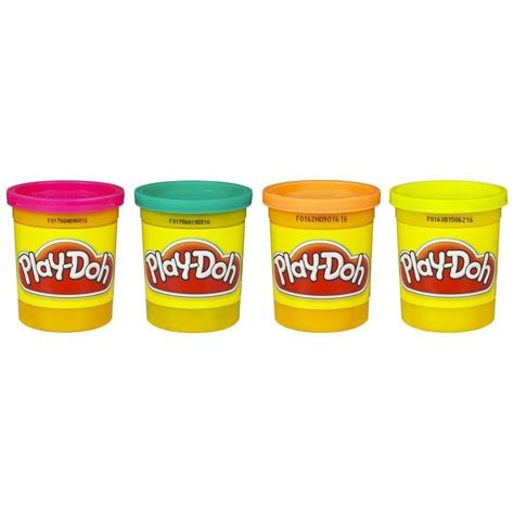 play doh play doh 4 pack tropical colors play doh