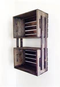 Hanging Shelving Units Sale Brown Wooden Crate Wall Hanging Shelving Unit