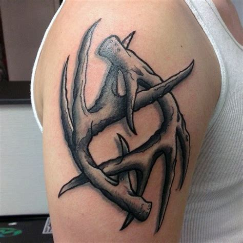 deer horn tattoos 70 antler designs for cool branched horn ink
