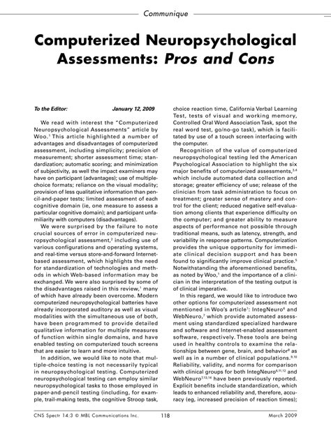 neuropsychological assessment report sle standardized testing pros and cons vehicle sale contract
