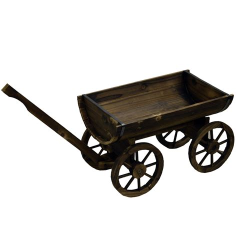 And Cart Planter by Cart Solid Wood Rustic Garden Flower Planter Pot