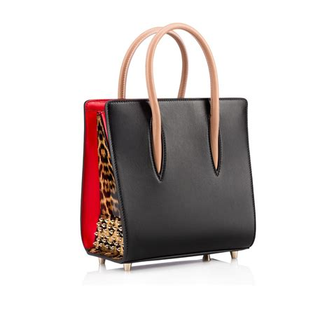 Christian Louboutin Ironica Handbag by Small Tote Bag Black Brown Leather Handbags