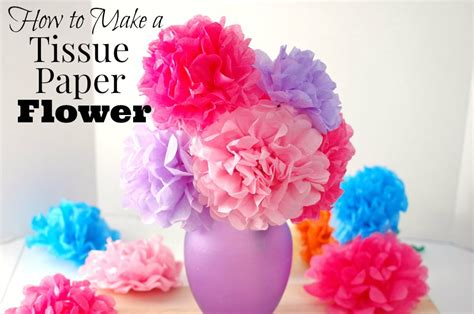 How To Make A Tissue Paper Flower Easy - how to make easy tissue paper flowers saving cent by cent