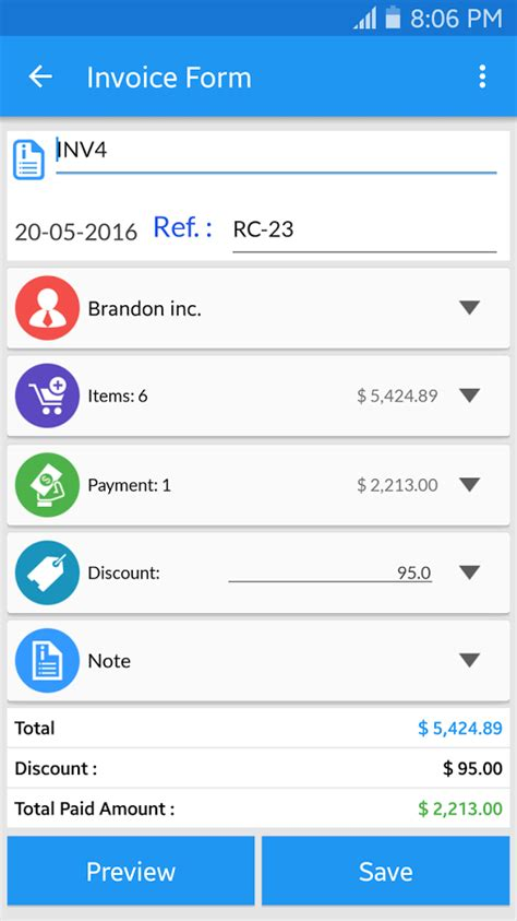 simple invoice manager free excel templates