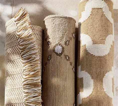 pottery barn garden rug dot n dash recycled yarn indoor outdoor rug neutral pottery barn