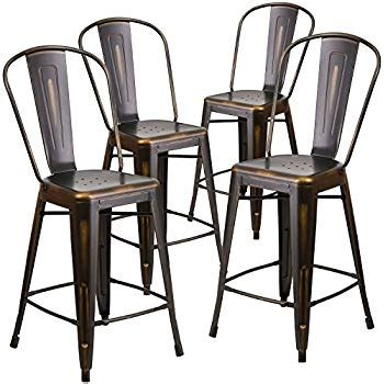 Metal Counter Height Stools With Backs by 26 Inch Industrial Distressed Metal Counter