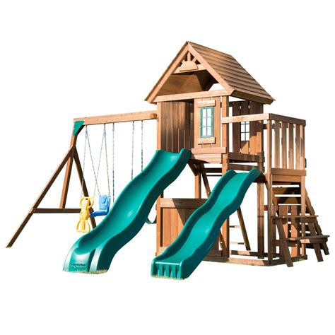 swing n slide cool wave slide swing n slide playsets knightsbridge deluxe wood complete