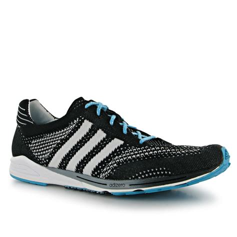 adidas adizero prime knit mens running shoes trainers sneakers footwear blk wht ebay