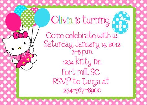 free hello kitty invitation template
