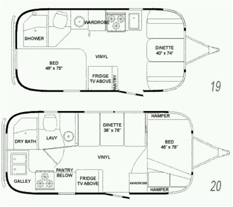 airstream floor plans floor plans for airstreams favorite places spaces
