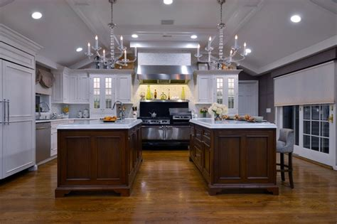 kitchens with two islands two islands are better than one traditional kitchen