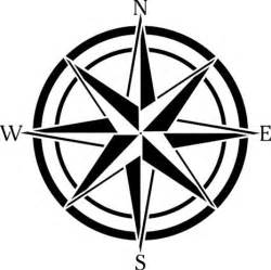 12 inch compass rose wall stencil