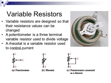 what is the use of a variable resistor chapter 5 resistors ppt