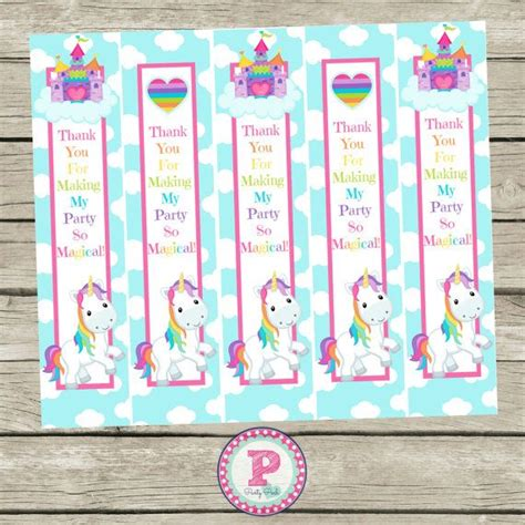 printable unicorn bookmarks 1000 images about birthday party ideas on pinterest