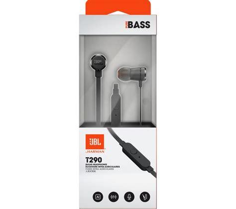 Earphone Jbl T290 Black jbl t290 headphones black fast delivery currysie