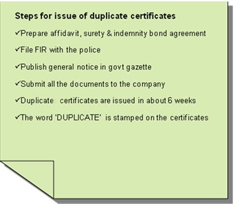 duplicate certificate template lost certificate steps you should take for issue of