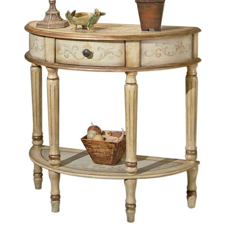 Half Circle Console Table by Shop Butler Specialty Artists Originals Tuscan