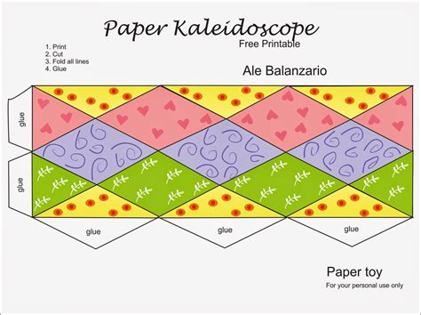 How To Make A Paper C - ale balanzario ilustracion kaleidoscope free paper