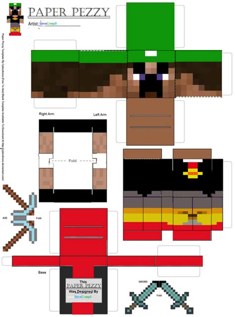 minecraft steve paper template pin minecraft steve paper doll template cachedfree