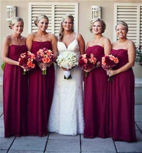 wedding dresses maroon colour bridesmaid dresses maroon gold
