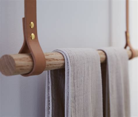 Ceiling Mounted Towel Rack by Another Ingenious Custom Flourish An Oak Dowel Towel Rack