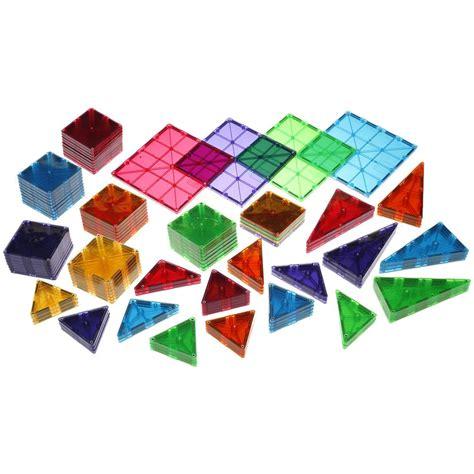 magna tiles clear colors 100 set magna tiles 174 clear colors 100 building