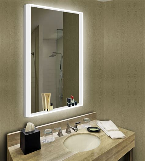 European Bathroom Lighting New Design European Bathroom Led Backlit Mirror With Acrylic Lighting And Touch Sensor Switch